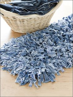 rugs from jeans and other scraps