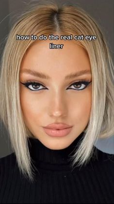 Asian Eye Makeup, Makeup Eye Looks, Eyeliner Looks, Pretty Makeup, Cute Eye Makeup, Edgy Makeup, Makeup Tutorial Eyeliner, Makeup Looks Tutorial, No Eyeliner Makeup