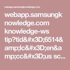 webapp.samsungknowledge.com knowledge-ws tip?tid=6514&lc=en&cc=us scheduling tips