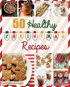 50 Healthy Christmas Recipes on MyNaturalFamily.com #christmas #recipes