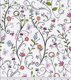 Heidi Grace Reagans Closet Cotton Fabric-Floral Vine & quilting fabric & kits at Joann.com