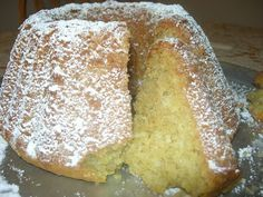 Martha's Kitchenette: The fluffier Lenten cake with lemon and coconut Greek Sweets, Greek Desserts, Greek Recipes, Vegan Desserts, Vegan Recipes, Sweets Recipes, Baking Recipes, Cake Recipes, Greek Cake
