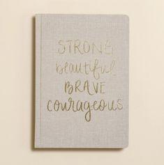 Strong + Beautiful Fabric Journal
