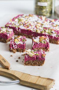 Chocolate Berry Superfood Bars with Maca, Raw Cacao, Acai & Chia Seeds!