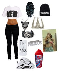 """new"" by lexyboooo ❤ liked on Polyvore featuring Boohoo, House of Holland, Young & Reckless, Carrera, Jordan Alexander and Swarovski"