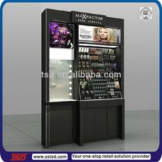 TSD-W527 Custom design luxury wooden makeup display units,make up cabinet,cosmetics shop decoration