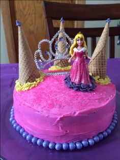 Super Simple Princess Cake. DIY purchased everything from Walmart.