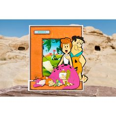 The Flintstones Dino, Pebbles and Bamm Bamm Die No Colour Flintstone Family, Yabba Dabba Doo, Book Folding, Create And Craft, Embossing Folder, Warner Bros, Diy Cards, Winnie The Pooh, Sewing Crafts