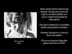 What is parental alienation syndrome?