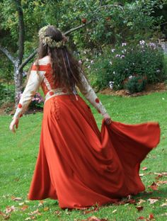 Embroidered Medieval Gown