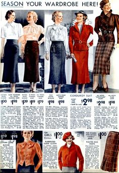 Fall/Winter 1935-1936 from Wearing History blog