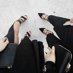 A view from above of the perfect black heels. // Follow @ShopStyle on Instagram to shop this look