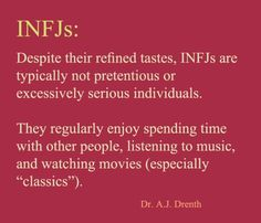 "#INFJ       Dr. A.J. Drenth -- True except, as a general rule, I actually hate the ""classics."""