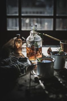 Gorgeous food photography and styling. Infused Bourbon Cider recipe by Beth Kirby Food Styling, Food Photography Styling, Rustic Photography, Whisky, Bourbon Cider Recipe, Kitchen Witch, A Table, Brewing, Herbalism