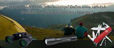 Vai passar as férias de julho no campo? Confira nossa variedade de modelos de binóculos, canivetes e lanternas! Veja>> http://www.giftformen.com.br/departamento/481975/Esporte-e-Lazer