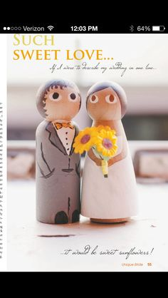 Hand made cake topper