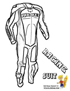 ATV Colouring Pages Of Freestyle Racing Suit