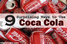 9 Surprising Ways to Use Coca-Cola via MrsJanuary.com #smart #frugal