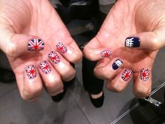 Seeing as I'm planning on marrying a Brit, these nails may be appropriate. Maaaaybe