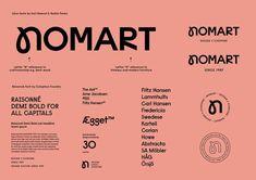 Nomart Branding by Kuudes Helsinki & Stockholm Source: Behance Adobe Indesign, Adobe Photoshop, Graphic Design Typography, Branding Design, Logo Design, Typography Inspiration, Graphic Design Inspiration, Autocad, Type Design