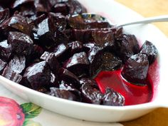 Roasted beets tossed with a maple-balsamic glaze are perfect for snacking or tossing over salads.