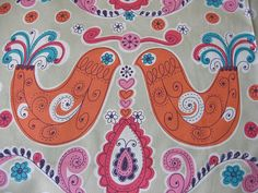 Decorator Fabric / Japanese Fabric/ Kokka orange by masonscottage, $8.50