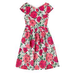 Dresses    Peony Spot Cotton Sateen Dress    CathKidston