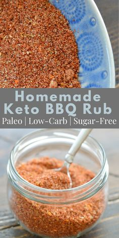 This easy paleo, low-carb & sugar-free BBQ spice blend is made from pantry staple ingredients and goes great on pork, beef, chicken, & vegetables. #keto #ketobbq #ketospiceblend #bbqrub #spiceblend #sugarfree Grilling Recipes, Lunch Recipes, Great Recipes, Keto Recipes, Cooking Recipes, Favorite Recipes, Skinny Recipes, Amazing Recipes, Recipes Dinner