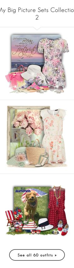 """""""My Big Picture Sets Collection 2"""" by helenehrenhofer ❤ liked on Polyvore featuring Dorothy Perkins, RED Valentino, Karen Kane, Jack Rogers, Wildfox, Ice, Summer, floralprint, playsuit and summersandals"""