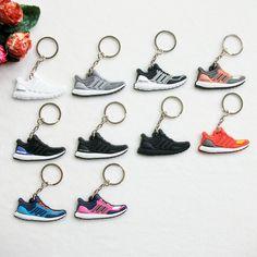 Cute Silicone Ultra Boost Key Chain Sneaker Keychain Kids Key Rings Key Holder Llaveros Chaveiro Porte Clef