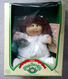 remember mom fighting to find us our cabbage patch dolls in the 80's?  bless her heart...she tried to get one that looked just like us, but those mom's were fierce!  She had to settle for a brunette for you ;)