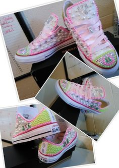 c6439729d5d5 36 Best Birthday shoes bedazzled bling converse All Star Chuck ...