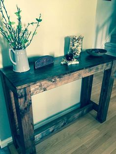 Rustic Entryway Console Table