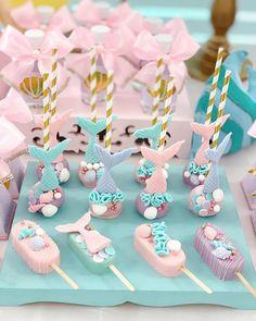 Little Mermaid Cakes, Mermaid Birthday Cakes, Little Mermaid Parties, 4th Birthday Parties, Birthday Party Decorations, Mermaid Cookies, Mermaid Cake Pops, Magnum Paleta, Christmas Cake Pops