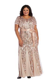 R&M Richards Plus Size Long Evening Dress 3645W   The Dress Outlet Plus Size Evening Gown, Evening Gowns, Plus Size Formal Dresses, Beaded Gown, Groom Dress, Dress Skirt, Skirt Suit, Mother Of The Bride, Fashion Dresses