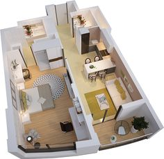 """1-комнатная квартира """"Оксфорд"""" в ЖК Park Avenue. Купить квартиру 60m²"""