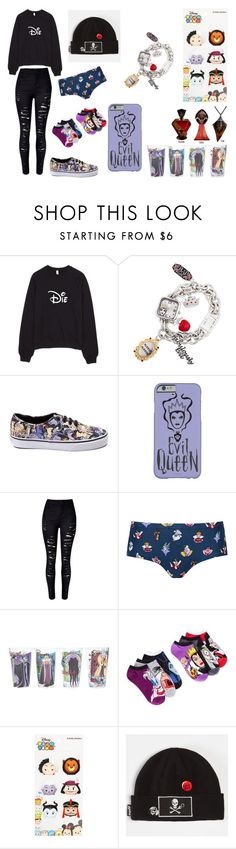 """Disney Villains"" by galaxyoflions ❤ liked on Polyvore featuring Disney, Topshop, Planet Sox and Neff"