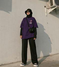 Hijab Fashion Summer, Street Hijab Fashion, Tomboy Fashion, Muslim Fashion, Fashion Outfits, Mode Streetwear, Streetwear Fashion, Stylish Hijab, Hijab Style