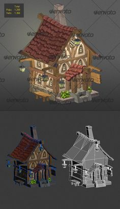Buy low poly wood house 3 by MARTINDS on This is a model of a wood house low poly. Poly PNG ,TGA Hope someone will find it useful ! Cartoon House, Cartoon Art, 3d Design, Game Design, Texture Painting, Texture Tile, Stone Texture, Polygon Modeling, Low Poly Games