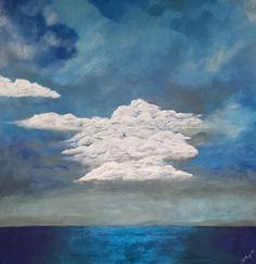 Island Storm Oil Painting On Canvas, Lovers Art, Impressionist, Buy Art, Original Art, Fine Art, Island, Artwork, Wrapped Canvas