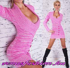 Divatos kötött pink női pulóver - Venus fashion női ruha webáruház  5f7765f563