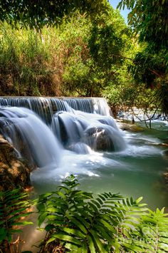 ✯ Kouangxi Waterfall, Luang Prabang, Laos-home. Beautiful World, Beautiful Places, Beautiful Pictures, All Nature, Amazing Nature, Beautiful Waterfalls, Beautiful Landscapes, Laos, Places Around The World