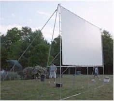 Build your own outdoor movie screen