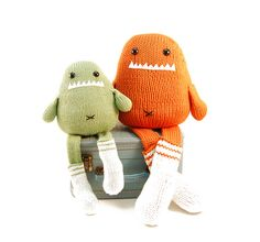 Knit Monsters with Socks - Very cute