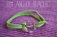 PS : ♡: diy: anchor bracelet -- anchor charms available from Etsy!