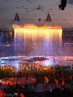 Olympic Rings on Fire