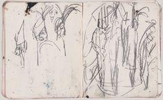 Kirchner, Carnet de croquis 53, crayon, 20,6 x 16,4 cm, Kirchner Museum, Davos.