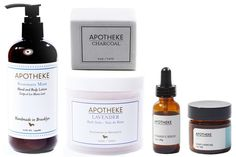 Apotheke Located in Brooklyn (are you sensing a trend?), Apotheke crafts gorgeous soy-wax candles and beautiful hand-cut bar soaps using natural oils, herbs, and butters. (They make lotions, scrubs, diffusers, and facial serums as well.) And thanks to the brand's ultra-sleek, minimalistic packaging, you can be sure their products won't clash with any of your decor.