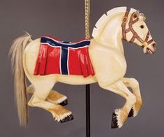 Meet the Ponies - Carousel for MissoulaCarousel for Missoula-John Thompson carved this Norwegian Fiord Horse