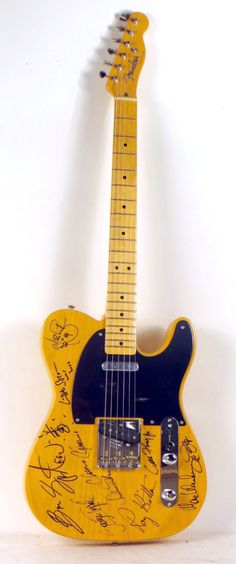 Bruce Springsteen and the E Street Band Fully Signed Fender Telecaster, N5ENG - Item #: 2592977